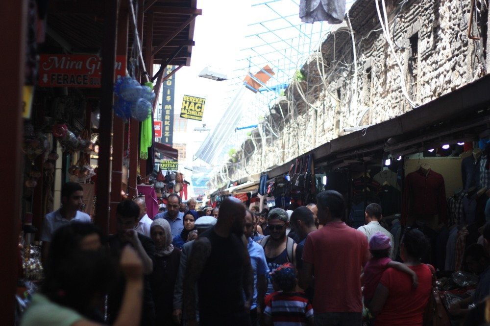 Busy lanes outside the Grand Bazaar