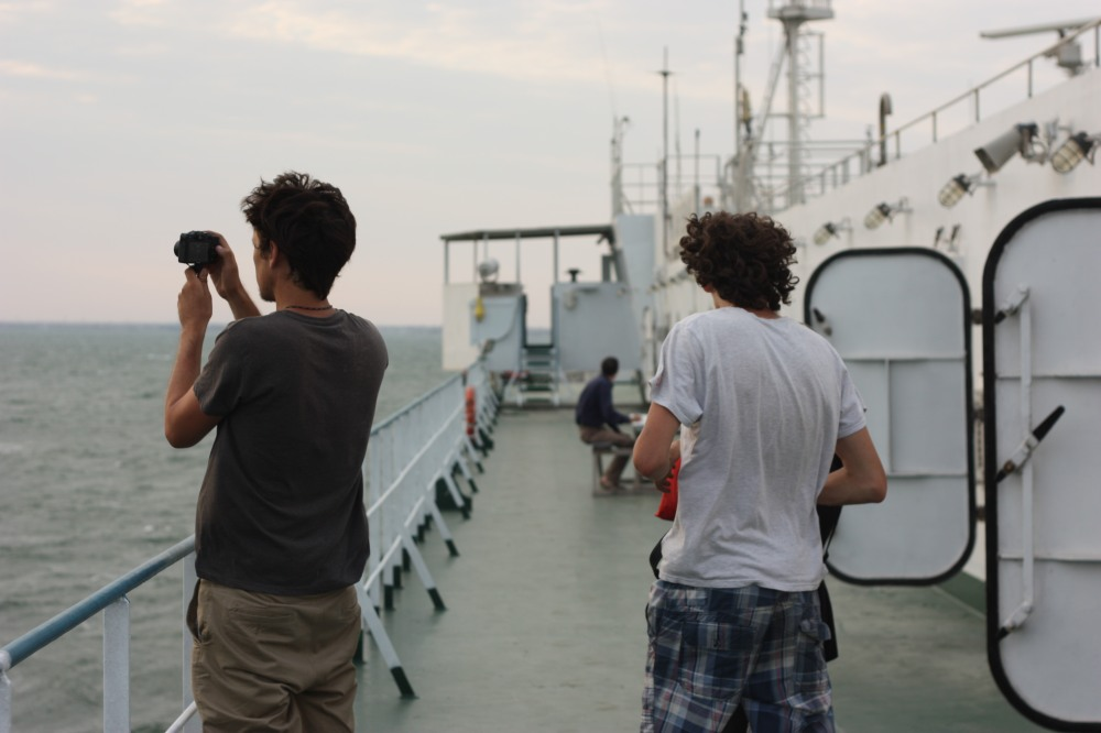 Taking photos of the sun setting over the Caspian was a daily activity