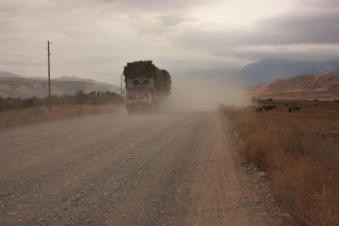 Dust storms caused by any passing vehicle