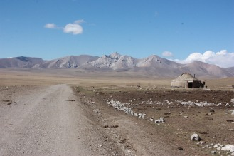 The road out of Lake Song Kul